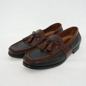 NEW Johnston Murphy Two Tone Kiltie Tassel Loafers
